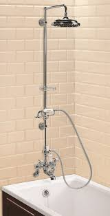 mounted angled bath shower mixer with straight arm 9in rose