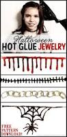 halloween jewelry crafts how to make simple creepy gothic jewelry with glue craft