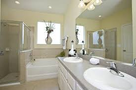bathroom bright master bathroom with gray and white shades also