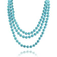 long pearls necklace images Color sea shell long pearl strand endless necklace 64in jpg