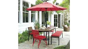 umbrella table and chairs crate patio furniture crate and barrel tables chairs patio