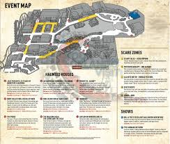 halloween horror nights the usher halloween horror nights 2015 map revealed