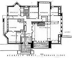 Anne Frank House Floor Plan Original Floor Plans Of Arthur B Heurtley House 1902