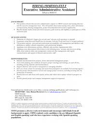executive administrative assistant sample resume administrative