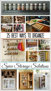 Best Way To Organize Kitchen Cabinets by 25 Best Ways To Organize Spices Craftionary Net Spices