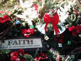 Christmas Decoration For Grave by Grave Blanket With Christmas Garland U0026 Grapevine