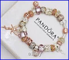 pandora charm bracelet clasp images Authentic pandora silver rose gold clasp charm bracelet euro jpg