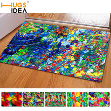 Thin Bath Mat Hugsidea Painting Anti Slip Bath Mats Thin Rubber Felt