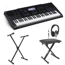 casio ctk 6200 portable keyboard with bench headphones stand at