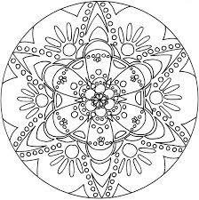 unique spring free printable mandala coloring pages adults