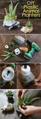 diy plastic animal planters plastic animals planters and animal