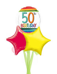 50 balloons delivered num 50 rainbow 50th birthday balloons delivered inflated bloonaway