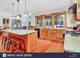 light wood kitchen cabinets with black countertops beautiful kitchen with light wood cabinets granite counter