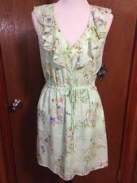 nwt bebop women u0027s large sheer lined pale mint green dress ebay