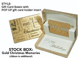 christmas gift card boxes gold christmas memories gift card box with pop up swipeit