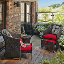 Patio Chairs With Ottoman Patio Furniture Conversation Sets Home Design