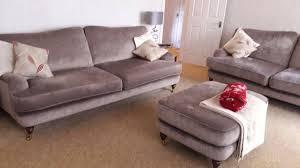 Laura Ashley Lynden Fabric Grande Sofa Large Sofa  Footstool - Sofa and footstool