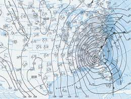 New England Weather Map by Superstorm Of 1993