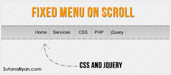 Top Bar Css How To Create Fixed Menu When Scrolling Page With Css And Jquery