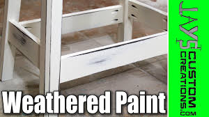 White Furniture Paint How To Get An Antique Weathered Paint Finish 131 Youtube