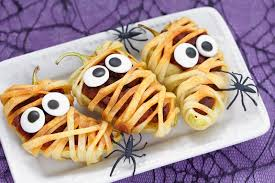 halloween recipes stuffed mummies and pear ghosts raleigh catering
