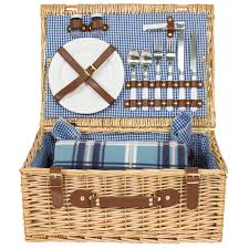 best picnic basket 2 person wicker picnic basket w cutlery plates glasses