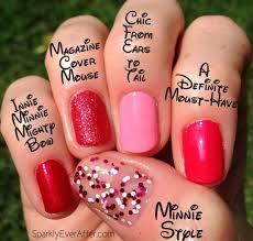 minnie mouse u0026 her couture de minnie opi nail polish