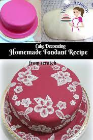 fondant cake the best fondant recipe from scratch veena azmanov