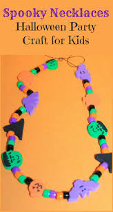 spooky necklaces a fun halloween party craft idea for kids