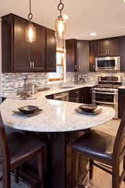 Kitchen Backsplash Ideas For Dark Cabinets Best 25 Rock Backsplash Ideas On Pinterest Stone Backsplash