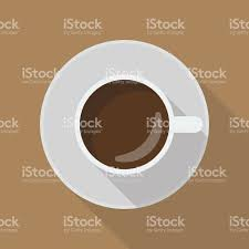 top of coffee cup cup of coffee top view stock vector art 620719998 istock