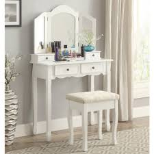 amazon com roundhill furniture sanlo white wooden vanity make up