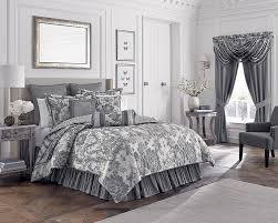 amazon com croscill everly comforter set queen silver home