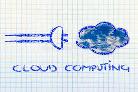 sketch of plug and cloud concept of cloud computing stock photos