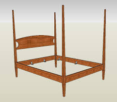 4 Bed Frame Four Poster Bed Handmade In Cherry Maple Or Mahogany