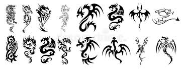 complex dragon designs for tattoos stock vector image 13292191