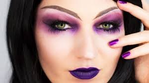 ideas and tutorials for purple witch makeup