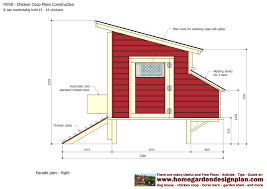 basic poultry house plan with inside a frame chicken coop 12927