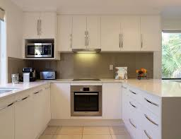 chic small u shaped kitchen ideas with white furnish modern u