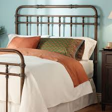 Wood And Iron Bed Frames Bed Bath Metal Headboard With Pillowcase And Bedding Also