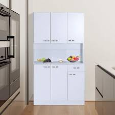 homcom 71 wood kitchen pantry storage cabinet homcom 71 modern freestanding kitchen buffet hutch with server and storage