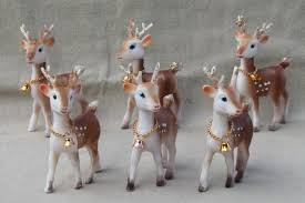 retro plastic reindeer christmas decorations vintage hong kong