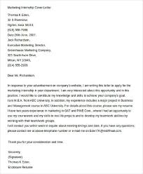 8 sample cover letter for internships