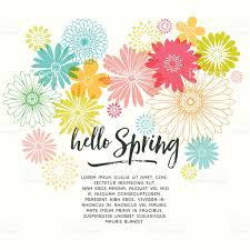 spring flower colorful graphic spring flowers stock vector art 507961490 istock