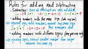 adding integers rules worksheets reviewrevitol free printable