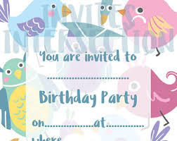 bird invite etsy