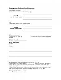 small business employment contract templates free contract