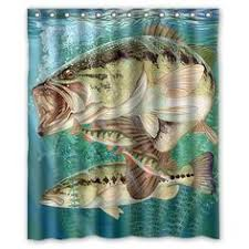 Fishing Shower Curtain This Camping Trip Themed Fabric Shower Curtain Looks Perfect In A
