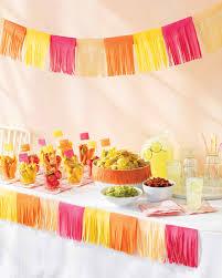 mexican fiesta party ideas martha stewart tissue paper decorations