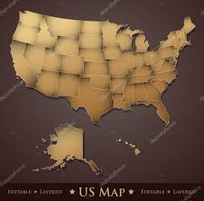 Usa Map Vector by Us Map U2014 Stock Vector Silvertiger 7793715